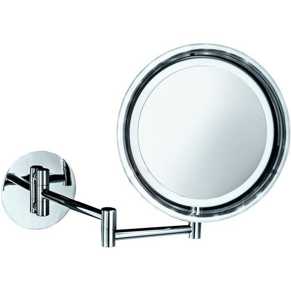 Krahn LED Swivel Makeup/Shaving Mirror by Symple Stuff