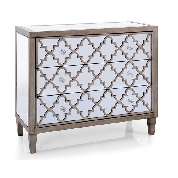 Apsley Mirrored 3 Drawer Accent Chest by Rosdorf Park