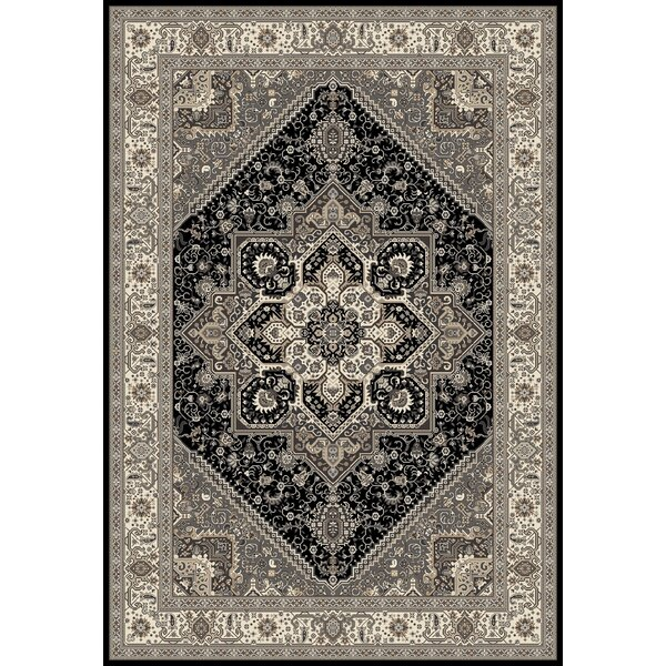 Landy Black/Gray Area Rug by Astoria Grand