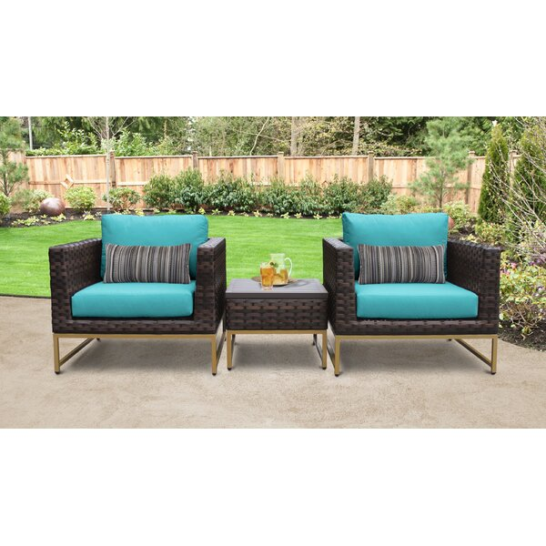 Mcclurg Outdoor 3 Piece Seating Group with Cushions by Darby Home Co