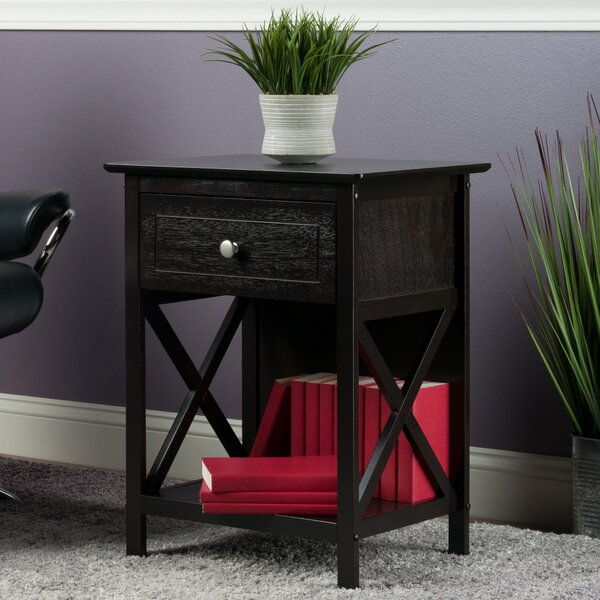 Aicha End Table With Storage By Charlton Home