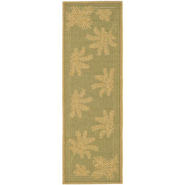 Wickford Green Outdoor Rug by Bay Isle Home