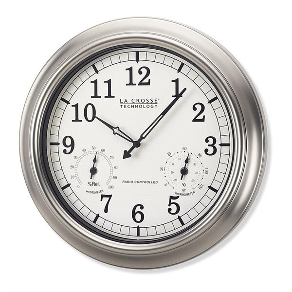 18 La Crosse Technology™ Atomic Backyard Wall Clock by Wind & Weather