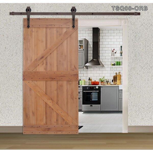 Primed Sliding Solid Wood Panelled Sliding Interior Barn Door by Calhome