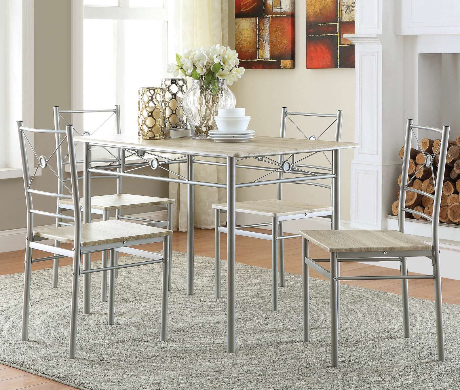 Andover Mills Kieffer 5 Piece Dining Set & Reviews | Wayfair