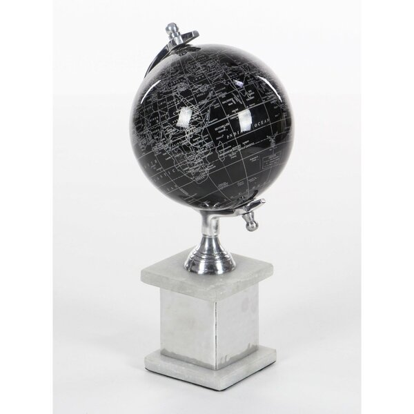 Pitch Aluminum Globe by Orren Ellis
