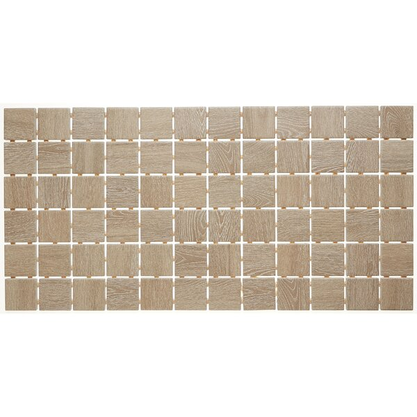 2 x 2 Ceramic Mosaic Tile in Butter Pecan by Itona Tile