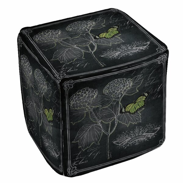 Chalkboard Botanical Pouf by Manual Woodworkers & Weavers