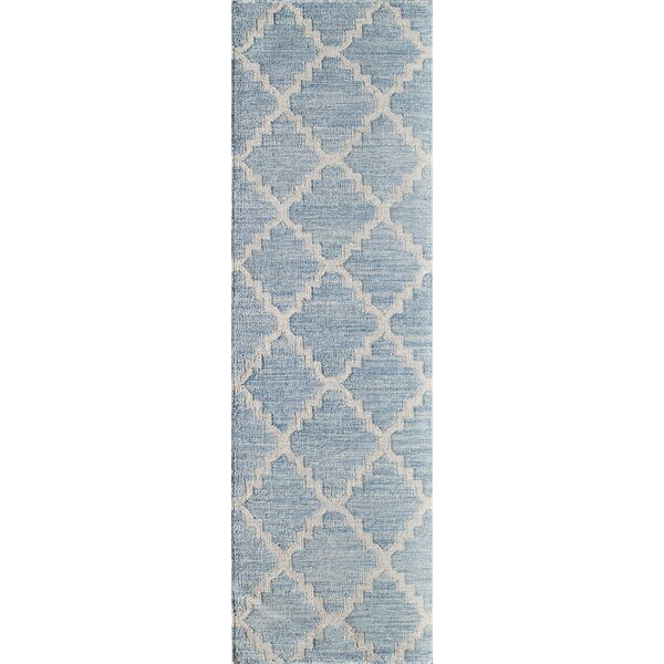 Zara Hand-Woven Blue Area Rug by Wrought Studio