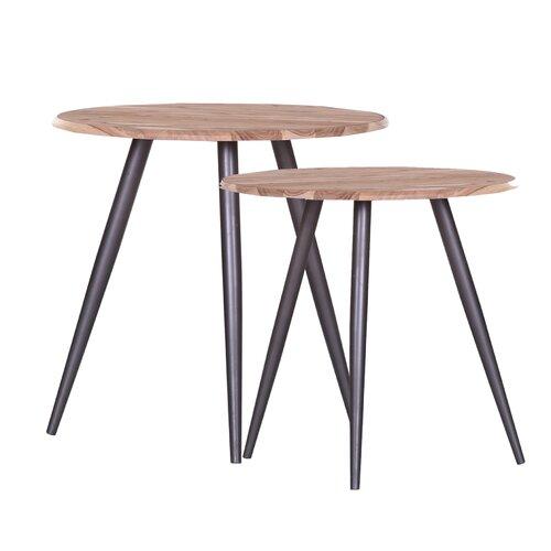 2 Satztische Hobart Brayden Studio   Wohnzimmer > Tische > Satztische & Sets   Brayden Studio