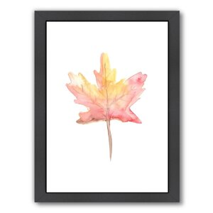 'Leaf' Framed Painting Print by East Urban Home
