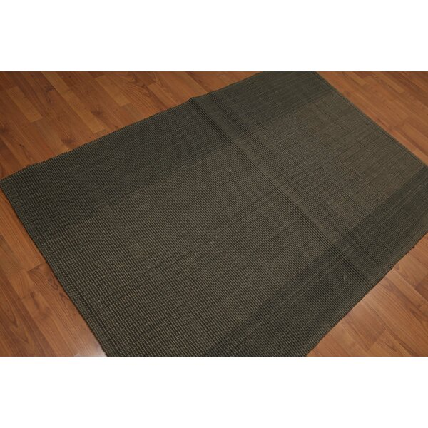 One-of-a-Kind Quan Reversible Hand-Knotted Olive Area Rug by Bloomsbury Market