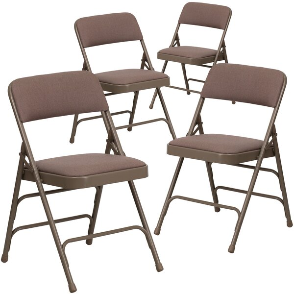 Laduke Curved Padded Folding Chair (Set of 4) by Symple Stuff
