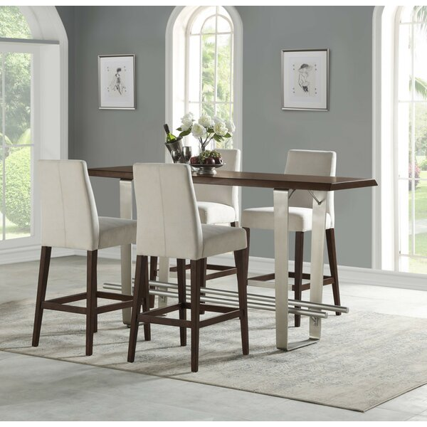 Koffler 5 Piece Counter Height Dining Set by Ivy Bronx