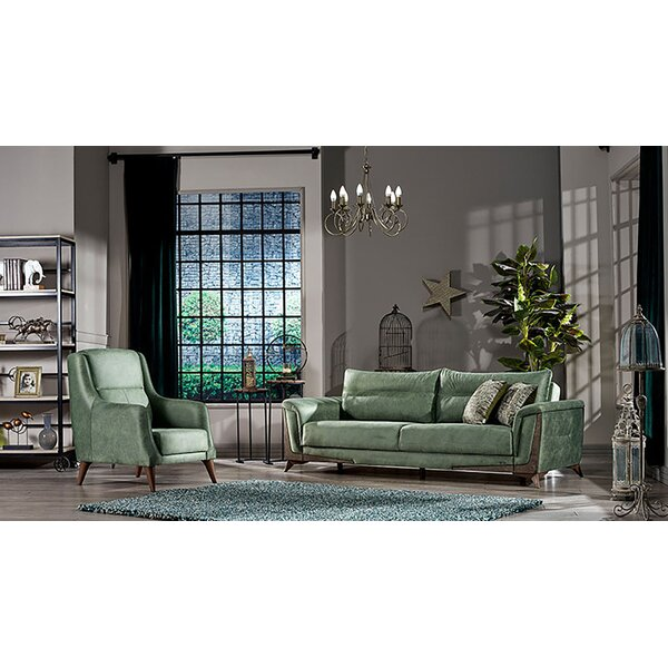 Nerissa Configurable 2-Piece Sleeper Living Room Set by Homedora