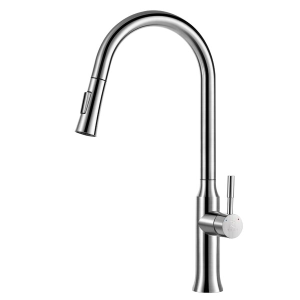 Pull Out Single Handle Kitchen Faucet with Side Spray