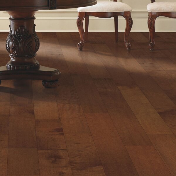 Kendra 5 Engineered  Maple Hardwood Flooring in Light Amber by Welles Hardwood