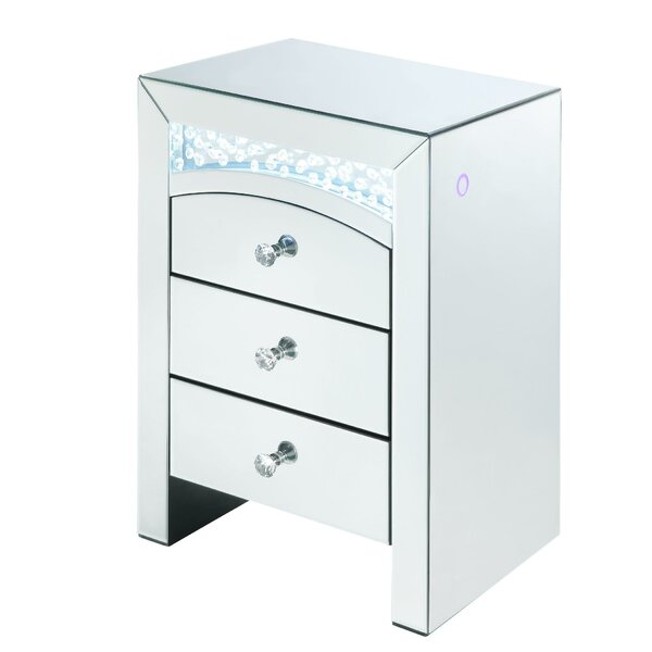 Toohey 3 Drawer Nightstand by Rosdorf Park