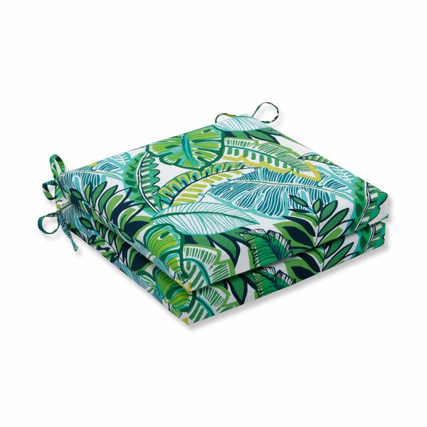 Hester Jungle Indoor/Outdoor Dining Chair Cushion (Set of 2)