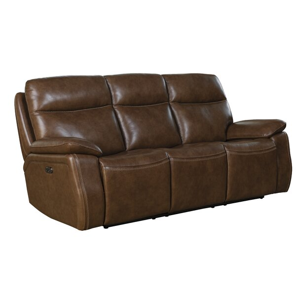 Jimmy Leather Reclining Sofa by Red Barrel Studio