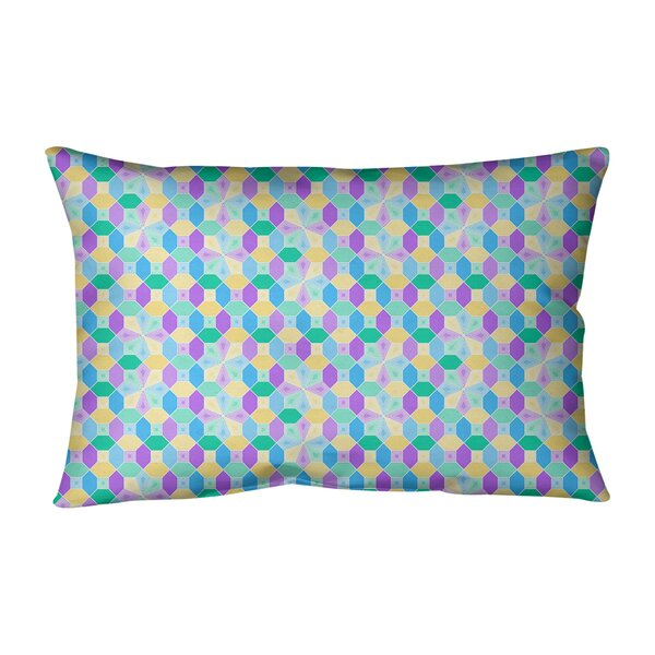 Avicia Stained Glass Indoor/Outdoor Lumbar Pillow