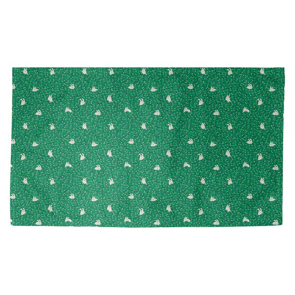 Avicia Bunny Rabbit Green/White Area Rug