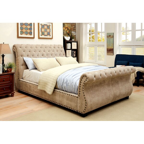 Benavides Upholstered Sleigh Bed by Darby Home Co