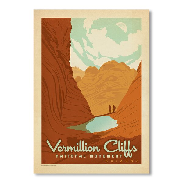 National Park Vermillion Vintage Advertisement by East Urban Home