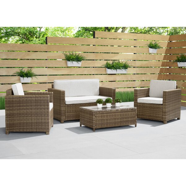 Beliveau 4 Piece Sofa Seating Group with Cushions by Ivy Bronx