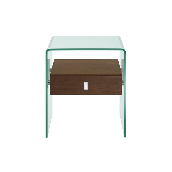 Joaquin End Table with Storage by Wade Logan Wade Logan