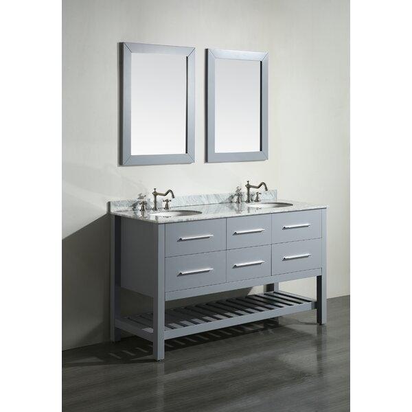 Cockrell 60 Double Bathroom Vanity Set with Mirror by Mercury Row