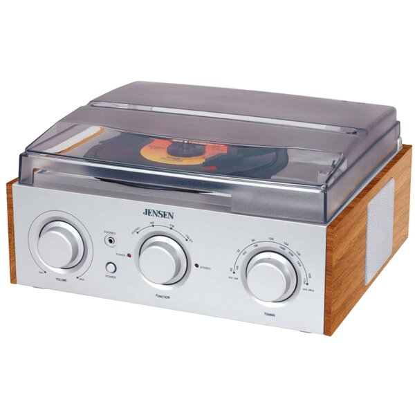 3 Speed Stereo Turntable with AM / FM Radio by Jen