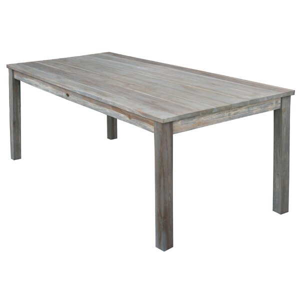 Lorie Teak Solid Wood Dining Table by Loon Peak Loon Peak