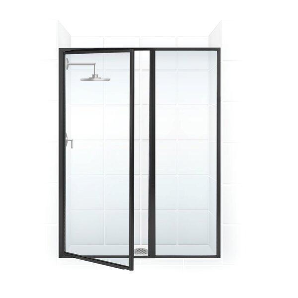 Legend Series 42 x 69 Hinged Framed Shower Door with Inline Panel by Coastal Shower Doors