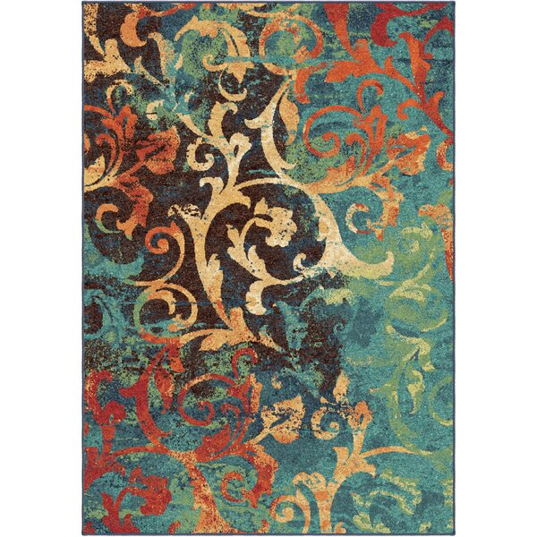 Claudine Blue/Brown Area Rug by Threadbind