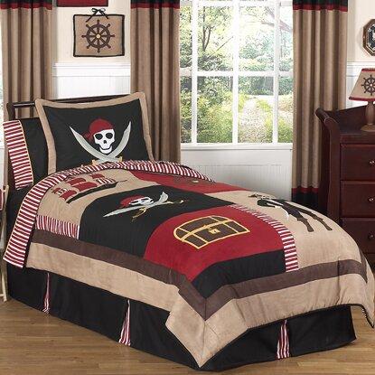 Pirate Treasure Cove 3 Piece Full/Queen Comforter Set by Sweet Jojo Designs