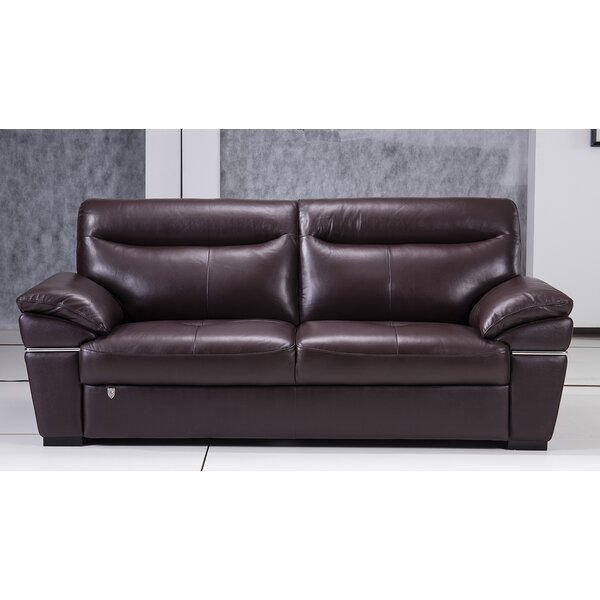 Discounts Victor Harbor Leather Sofa by Latitude Run by Latitude Run