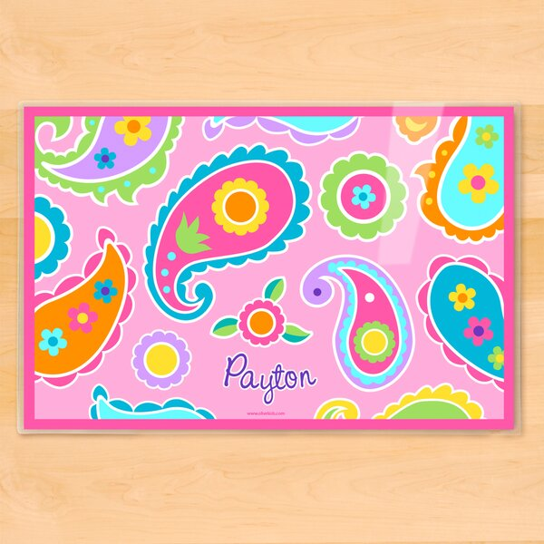 Paisley Dreams Personalized Placemat by Olive Kids