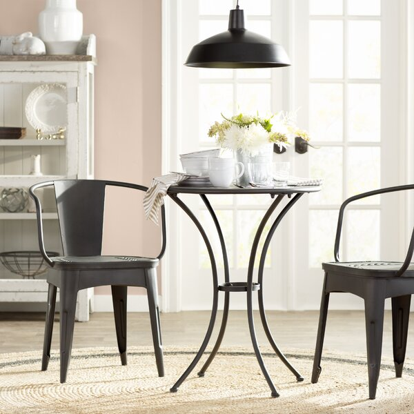 Triplehorn Indoor 3 Piece Metal Dining Set by Laurel Foundry Modern Farmhouse Laurel Foundry Modern Farmhouse