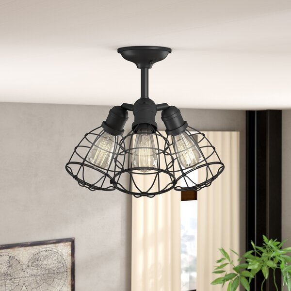 Trent Austin Design Evergreen 3 Light Semi Flush Mount