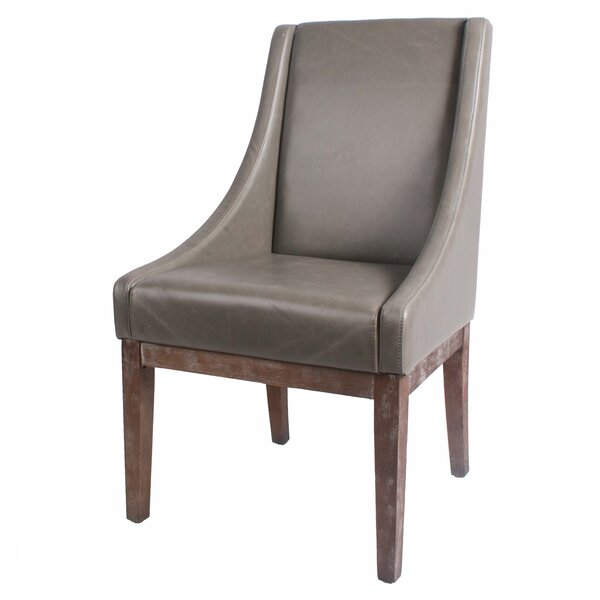Charee Bonded Leather Side Chair by Gracie Oaks