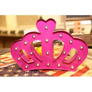 Marquee Crown Sign Wall Décor