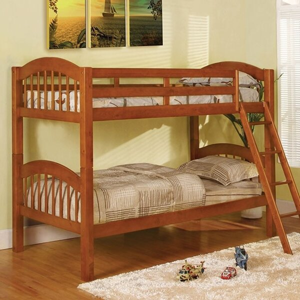 Hendon Picket Fence Twin Bunk Bed by Harriet Bee