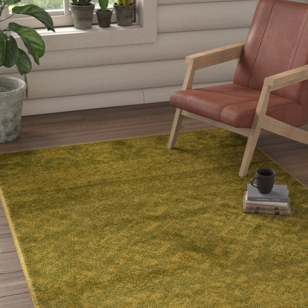St. Ann Highlands Olive Green Area Rug by Loon Peak