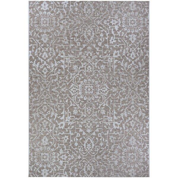 Kraatz Palmette Gray Indoor/Outdoor Area Rug by Ophelia & Co.