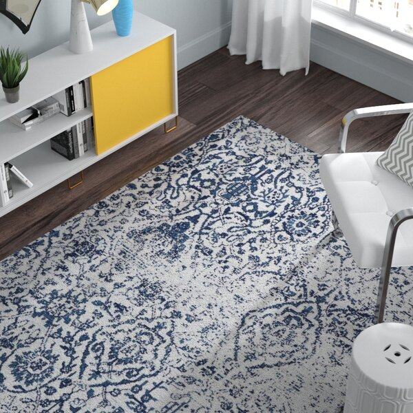 Orourke Ivory/Navy Area Rug by The Twillery Co.