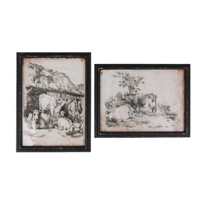 Vintage Farm Wall Prints (Set of 2) by Creative Co-Op