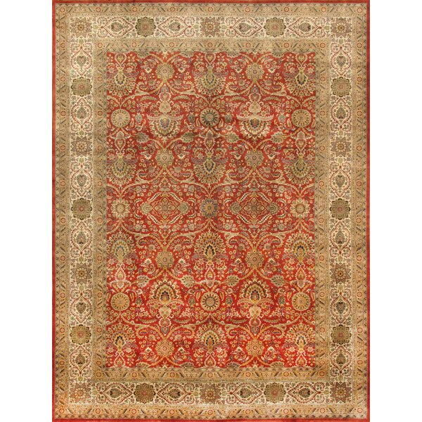 Tabriz Hand-Knotted Rust Area Rug by Pasargad
