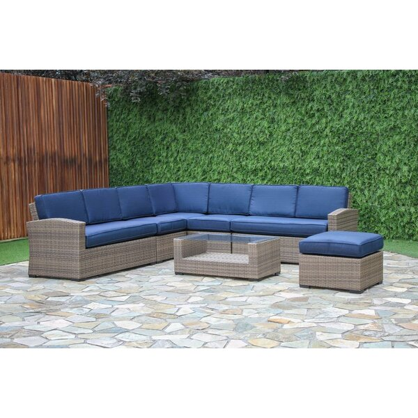 Fitzpatrick 7 Piece Sectional Set with Cushions by Longshore Tides