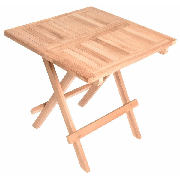 Cormac Folding Teak Bistro Table by August Grove